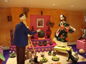 altar to the dead at Sheraton Isabel Maria hotel
