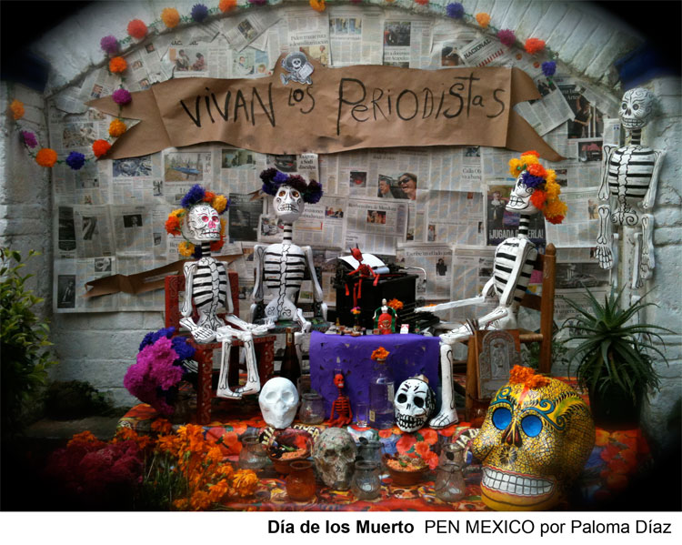 Mexican PEN's Day of the Dead altar